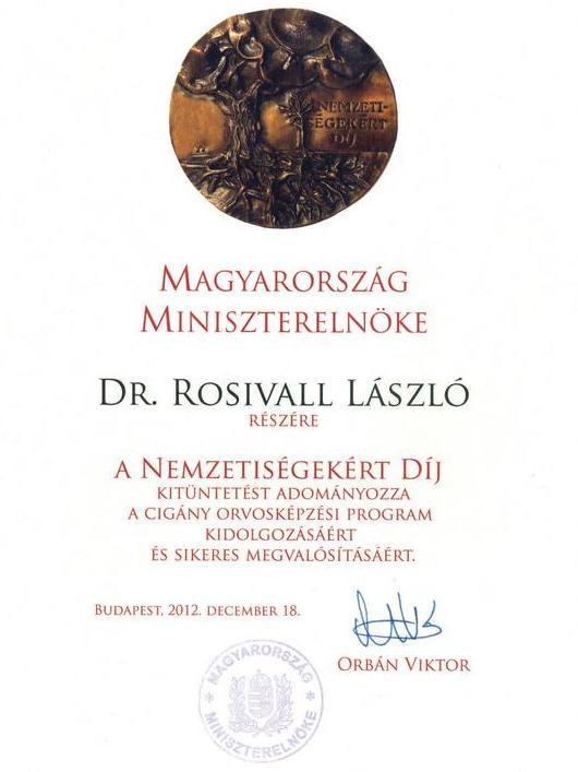 Nemzetiségekért díj - Rosivall